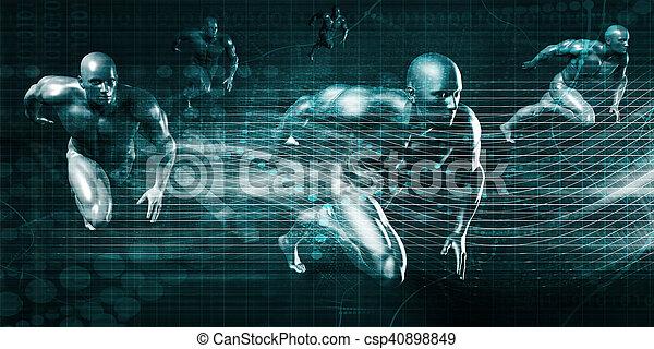 résumé, futuriste - csp40898849