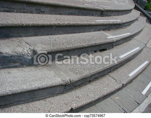 résumé, granit, ville, étapes, escalier - csp73574967
