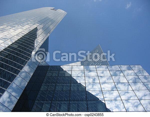 résumé, gratte-ciel - csp0243855