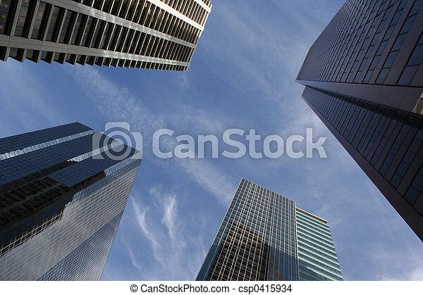 résumé, gratte-ciel - csp0415934