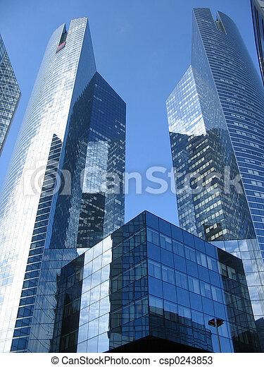 résumé, gratte-ciel - csp0243853