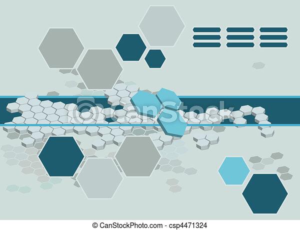 résumé, hexagone, fond - csp4471324