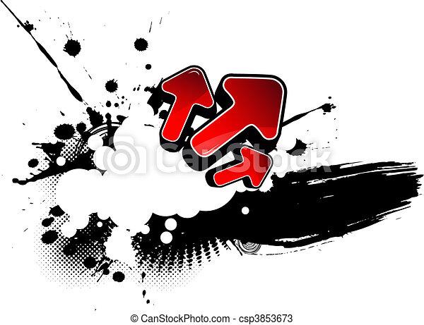 résumé, illustration, arrows. - csp3853673