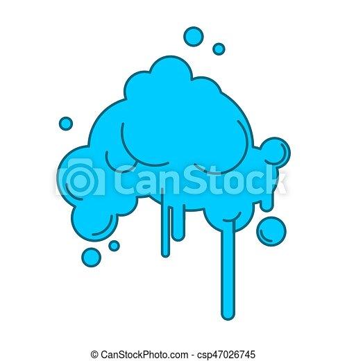 résumé, isolé, pluie, fond, nuage blanc - csp47026745
