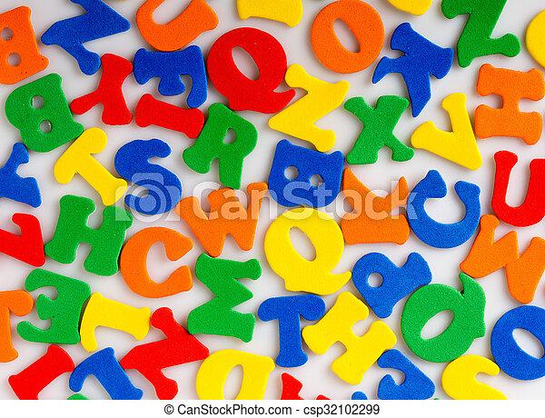 résumé, lettres, coloré - csp32102299