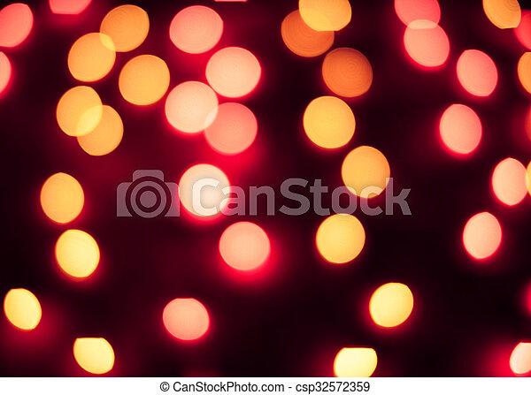 résumé, lights., bokeh., defocused, fond, année, nouveau, noël - csp32572359