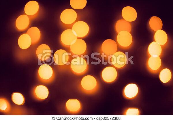 résumé, lights., bokeh., defocused, fond, année, nouveau, noël - csp32572388