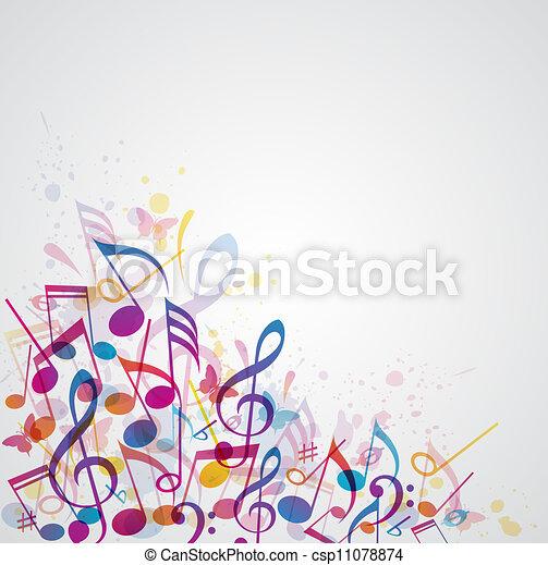 résumé, musique, fond - csp11078874