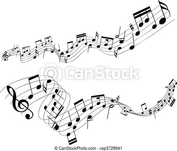 résumé, musique note - csp3728941