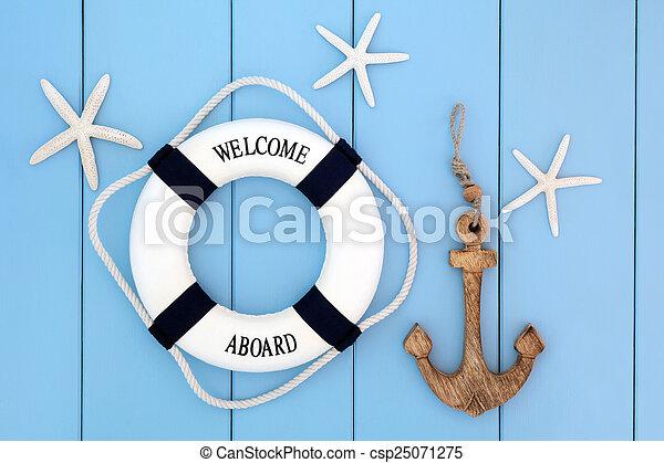 résumé, nautique - csp25071275