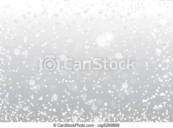 résumé, neige, fond - csp5269899