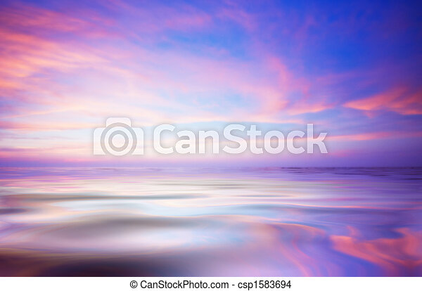 résumé, océan coucher soleil - csp1583694