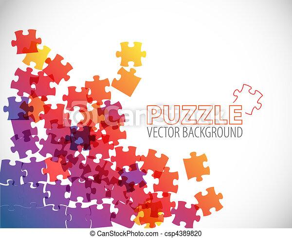 résumé, puzzle, fond - csp4389820