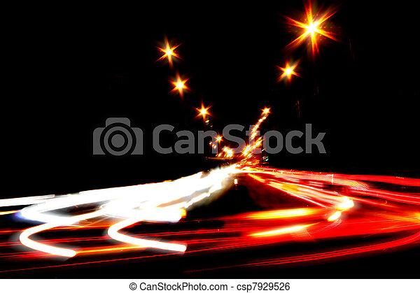 résumé, scène rue, nuit - csp7929526