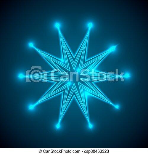 résumé, star., fond, briller - csp38463323