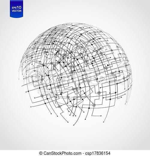 résumé, technologie, globe - csp17836154