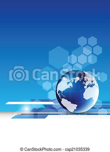 résumé, technologie, globe, fond - csp21035339