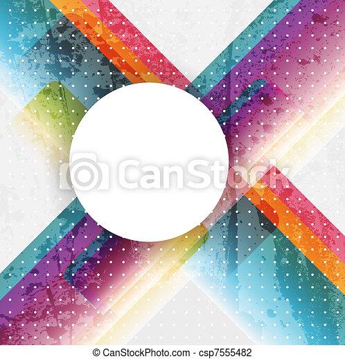 résumé, vecteur, coloré, fond - csp7555482