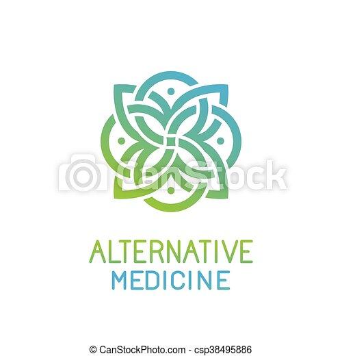 résumé, vecteur, conception, gabarit, médecine, logo, alternative - csp38495886