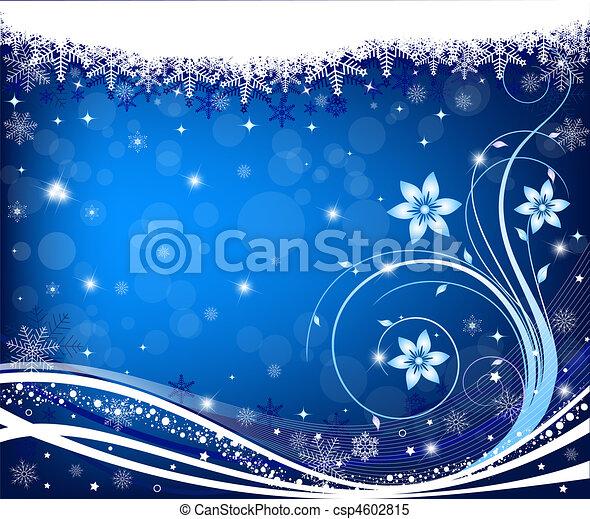 résumé, vecteur, hiver, fond - csp4602815