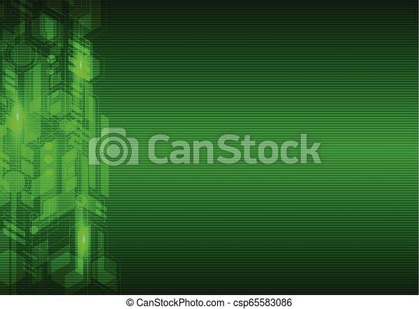 résumé vert, salut technologique, fond - csp65583086