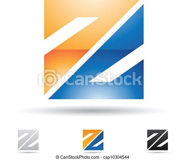 résumé, z, lettre, icône - csp10304544