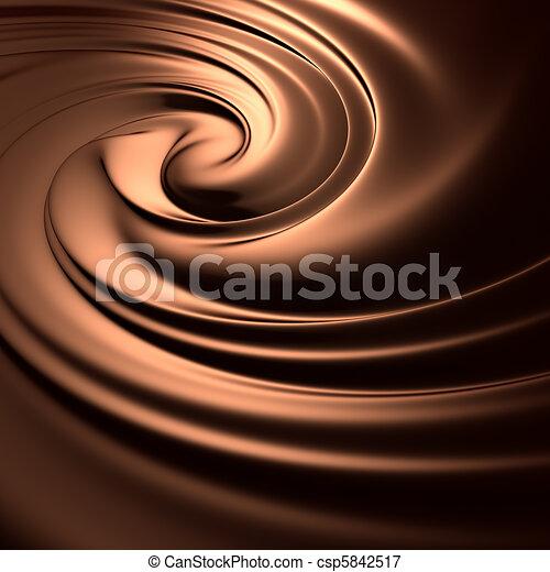 részletes, series., render., háttér, csokoládé, megdöbbentő, kitakarít, swirl. - csp5842517