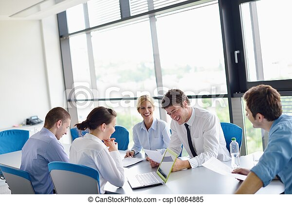 réunion, bureau affaires, gens - csp10864885