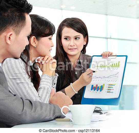 réunion, bureau, professionnels - csp12113164