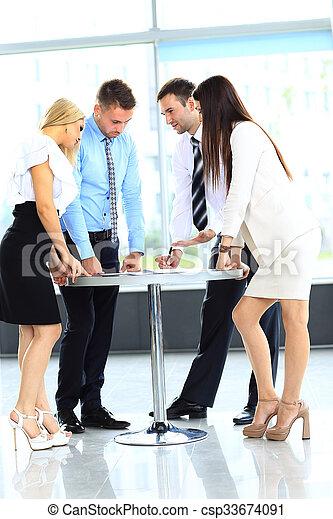 réunion, business - csp33674091