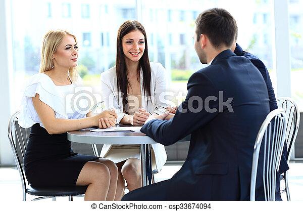 réunion, business - csp33674094