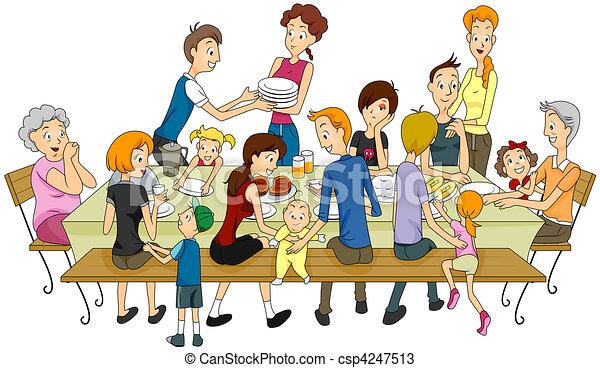 réunion famille - csp4247513