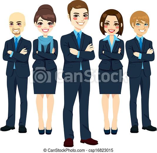 réussi, equipe affaires - csp16823015