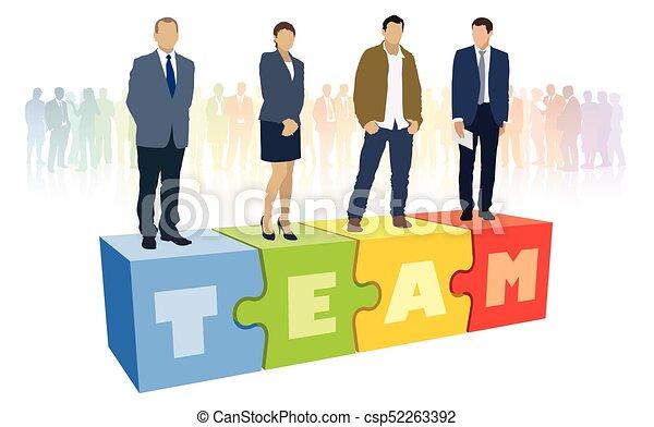réussi, equipe affaires - csp52263392