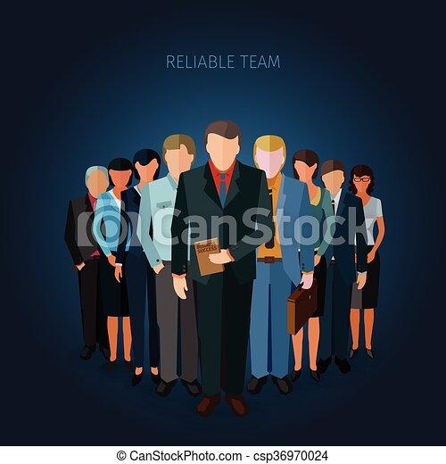 réussi, equipe affaires - csp36970024