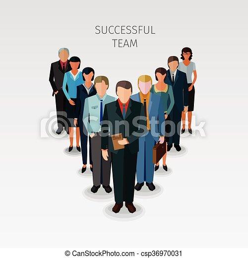 réussi, equipe affaires - csp36970031