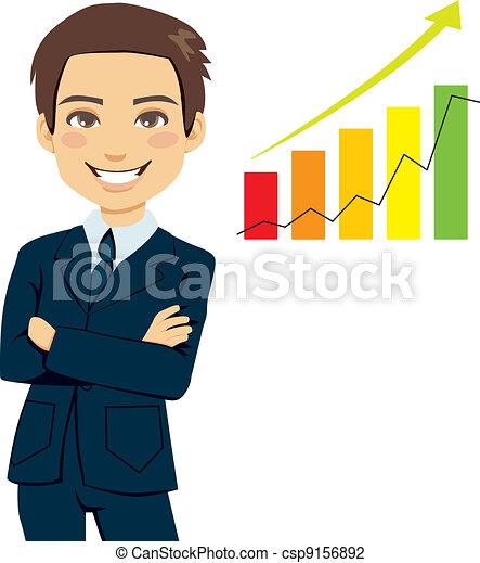 réussi, homme affaires - csp9156892