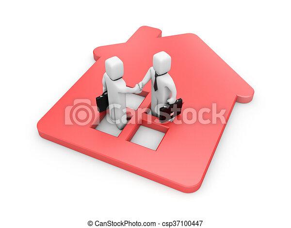 réussi, immobiliers, affaire - csp37100447