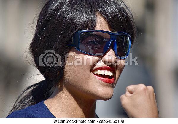 Réussi, personne, lunettes soleil port, séduisant. 0cada0f65f00