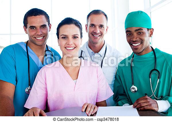 réussi, portrait, monde médical, équipe travail - csp3478018