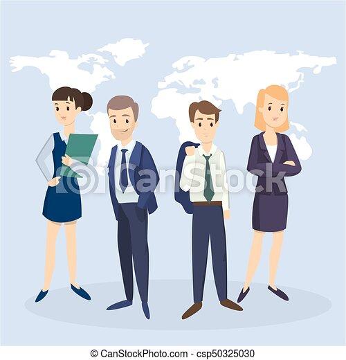 réussi, team., business - csp50325030