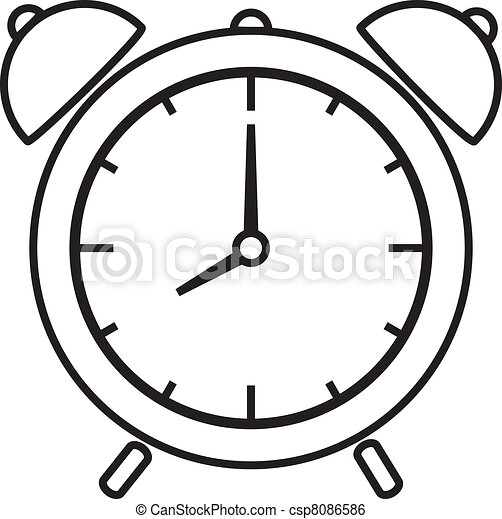 R veille matin reveil vecteur illustration horloge - Dessin reveil ...