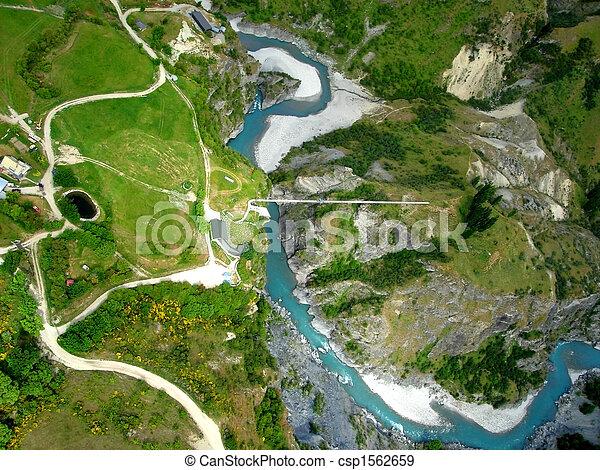 Una vista aérea del río - csp1562659