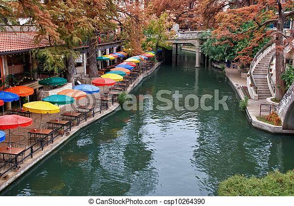 River Walk in San Antonio Texas - csp10264390