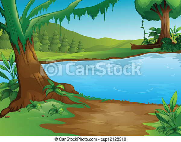 Un río - csp12128310