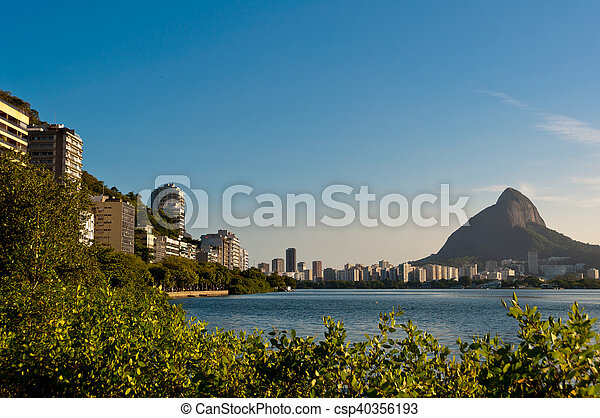Lagoon en Río de Janeiro - csp40356193
