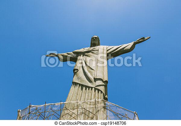 Cristo el redentor rio de janeiro - csp19148706