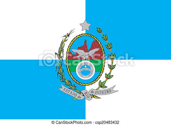 La bandera de Río de Janeiro - csp20483432