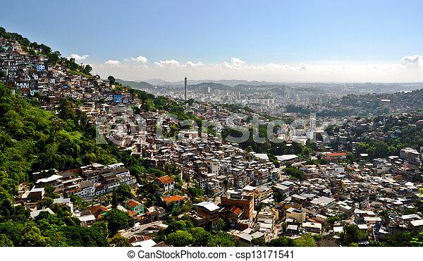 Favela in rio de janeiro - csp13171541
