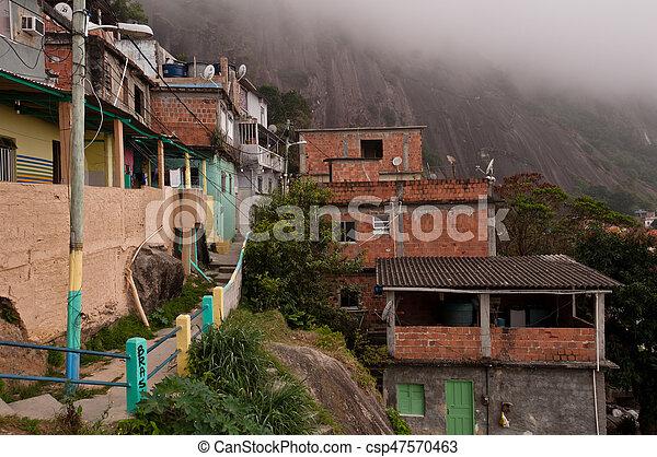 La favela Vidigal en rio de janeiro - csp47570463